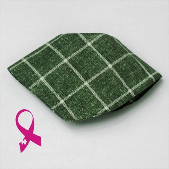 Unique green square patterned dribble bib