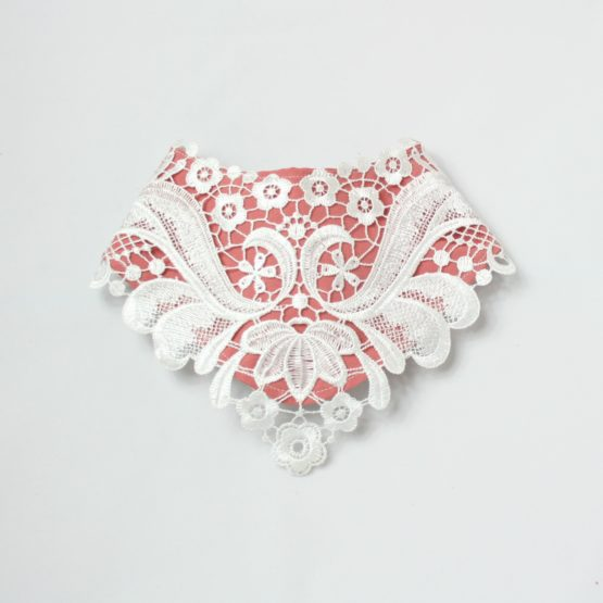 Cute lacy dribble bib pink