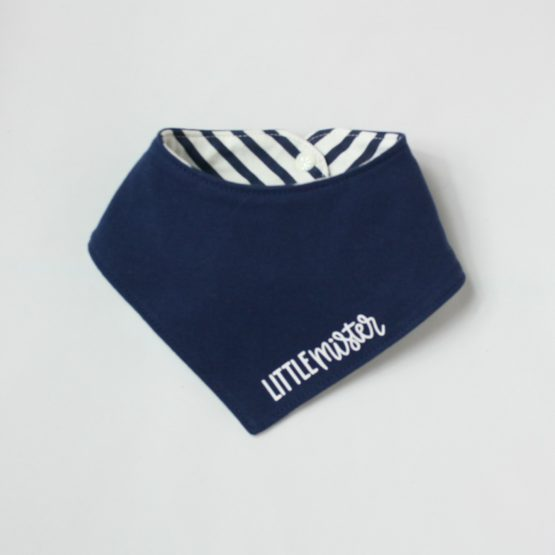 Little Mister blue dribble bib