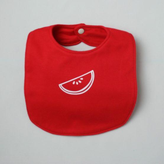 Red bib with watermelon