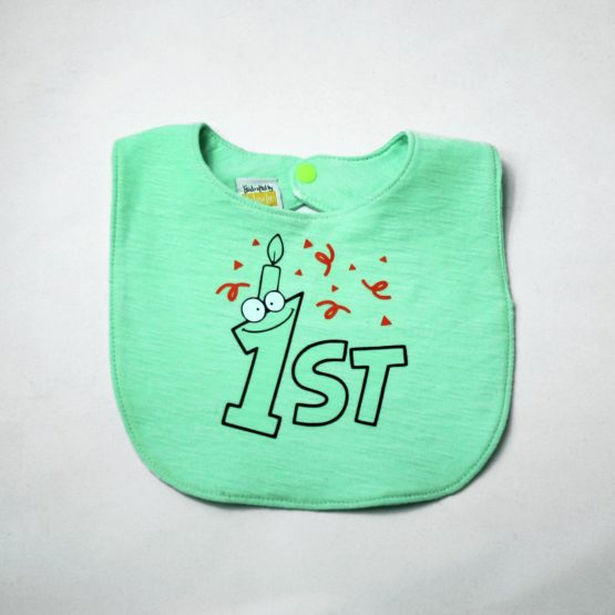 First birthday character bib