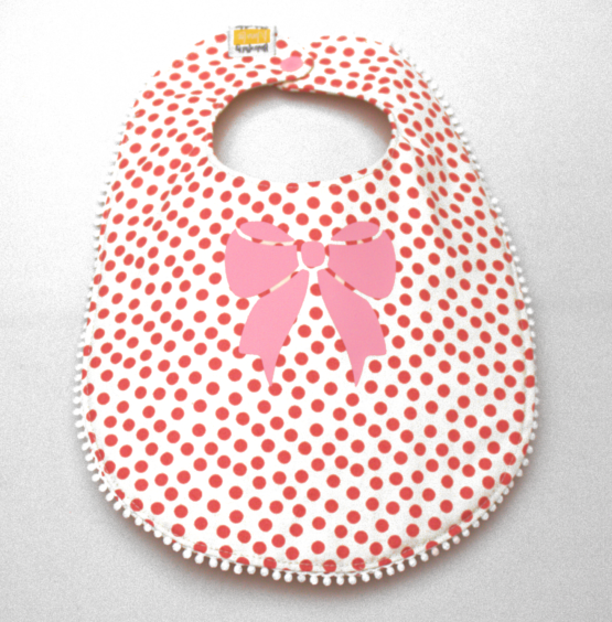 Pink Polka dots with pink bow